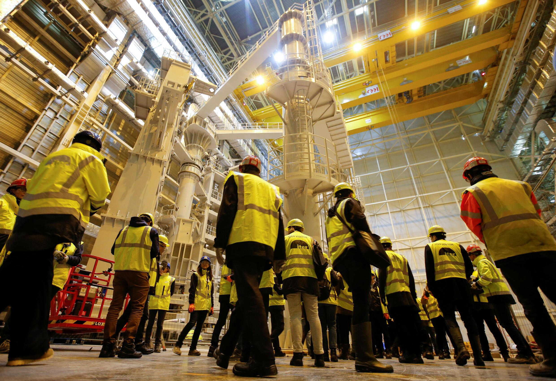 Стройплощадка проекта ITER в Сен-Поль-ле-Дюранс 7 ноября 2019.