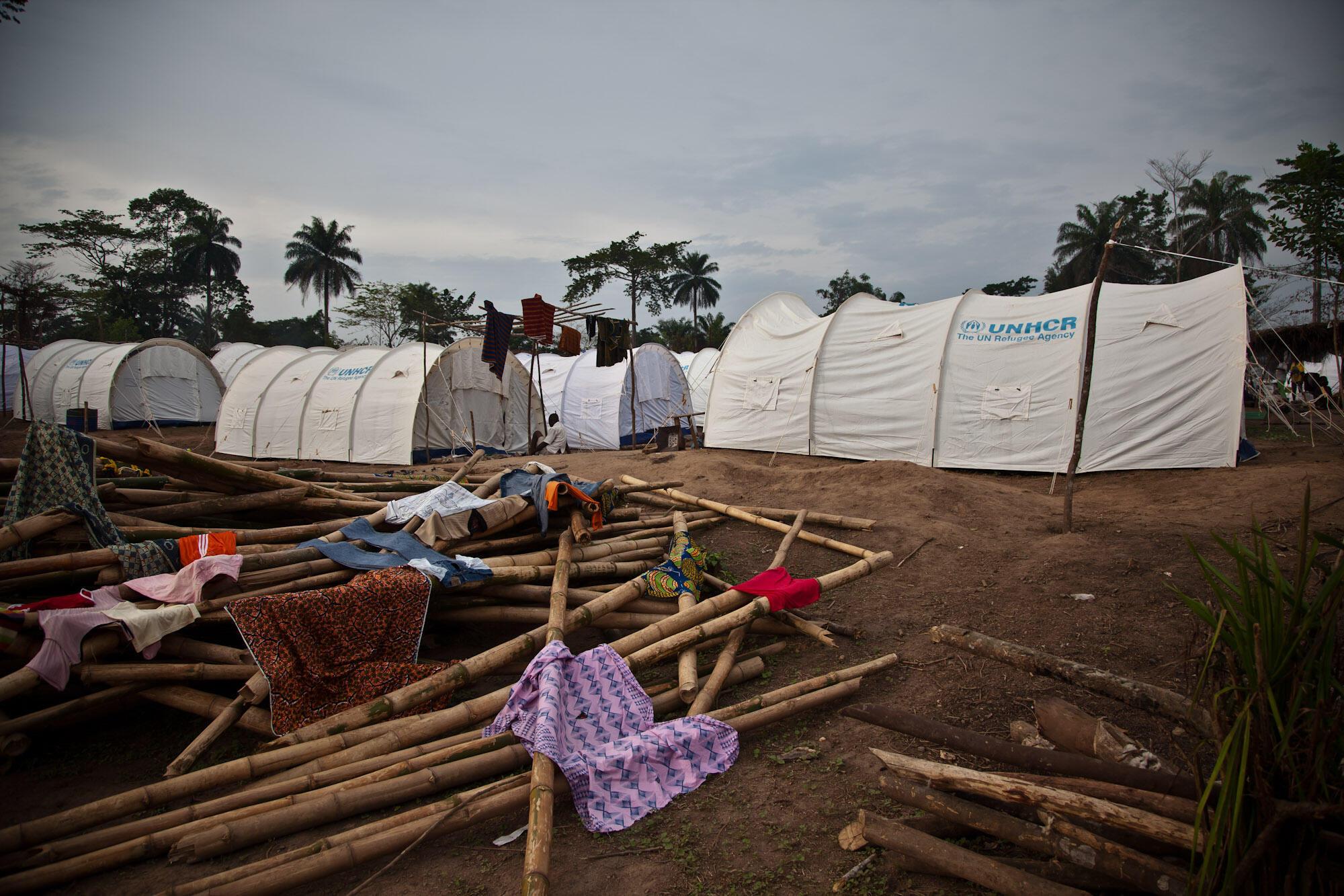 De plus de 300 000 en 2011, il reste aujourd'hui environ 50 000 réfugiés ivoiriens. Ici, un camp au Liberia.