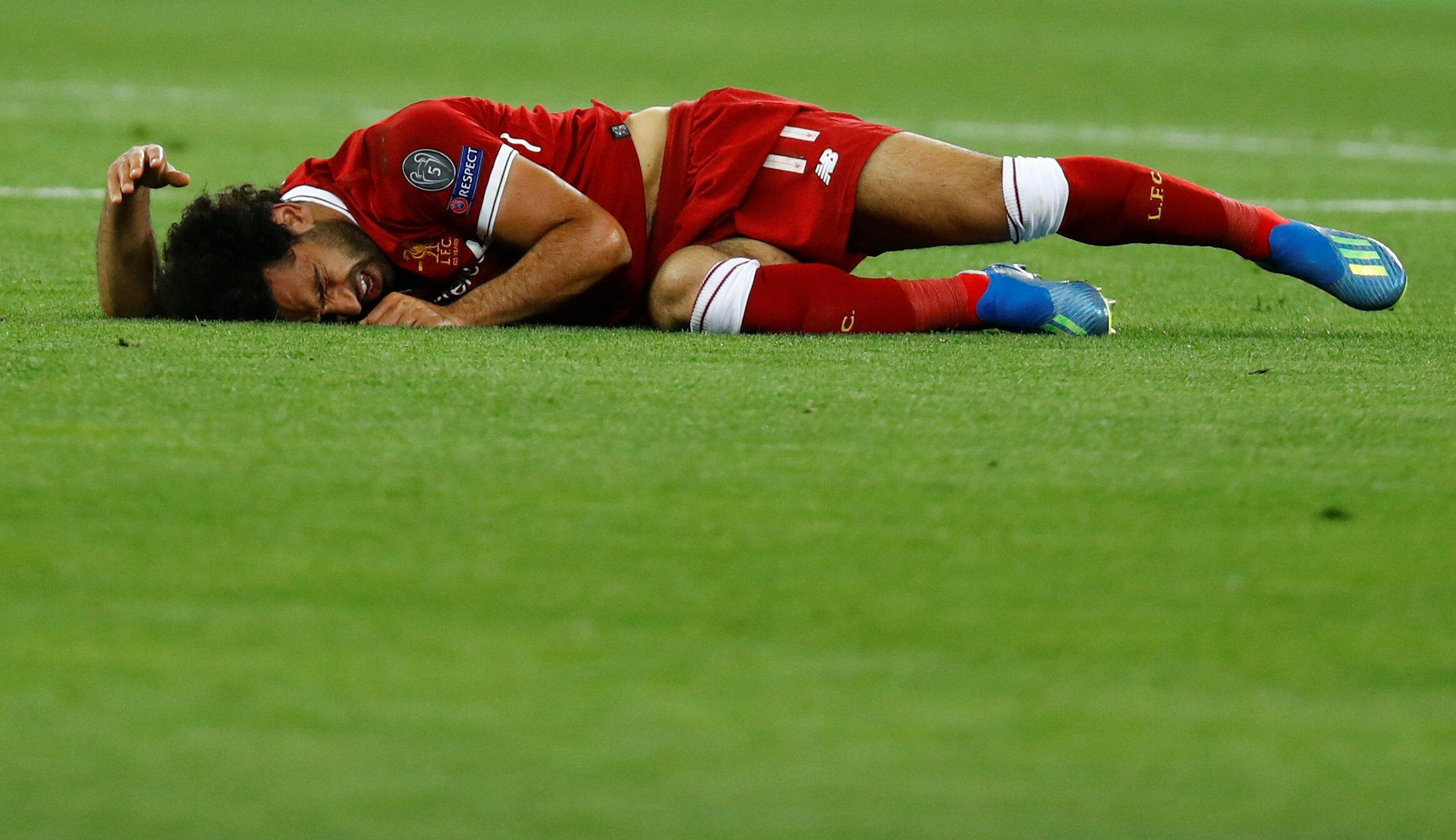 L'Egyptien Mohamed Salah a dû quitter le terrain sur blessure en début de match.