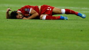 Mohamed Salah alilazimika kuondoka katika uwanja baada ya kupata jeraha mwanzoni mwa mechi.