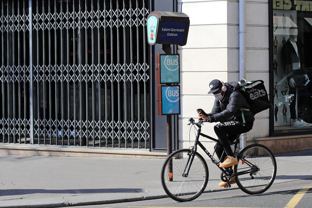Entregadores de bicicleta Paris