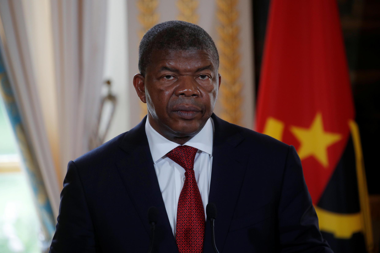 O presidente angolano João Lourenço no Palácio do Eliseu em Paris a 28 de Maio de 2018.