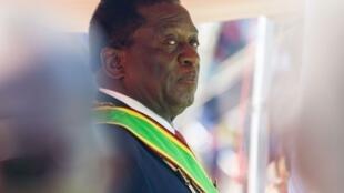 Emmerson Mnangagwa le 26 août 2016 à Harare.