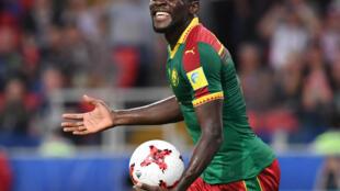 Le Camerounais Michael Ngadeu-Ngadjui, lors du match Cameroun - Chili, Coupe des Confédérations, à Moscou, le 18 juin 2017.