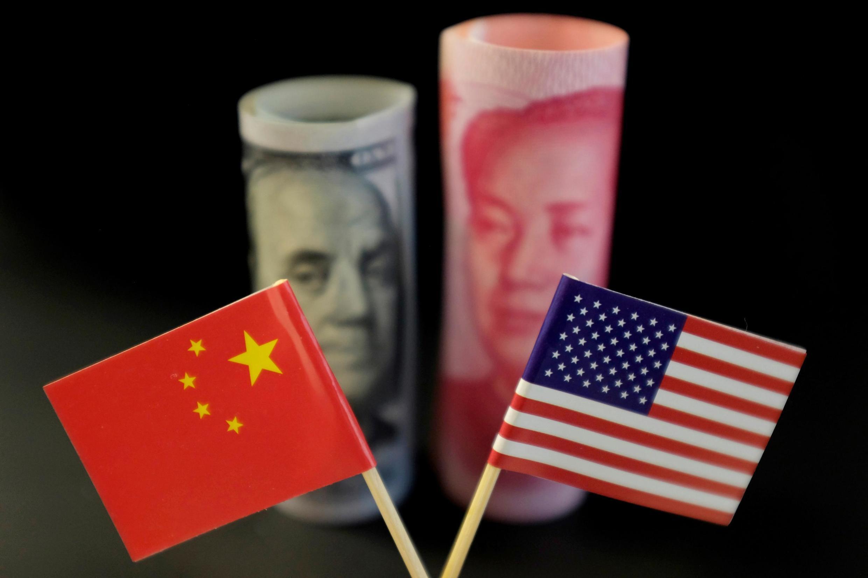 美中貨幣示意圖