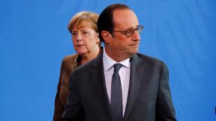 Ангела Меркель и Франсуа Олланд в Берлине, 13 декабря 2016 г.