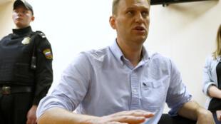 Алексей Навальный в Симоновском суде Москвы, 12 июня 2017 г.