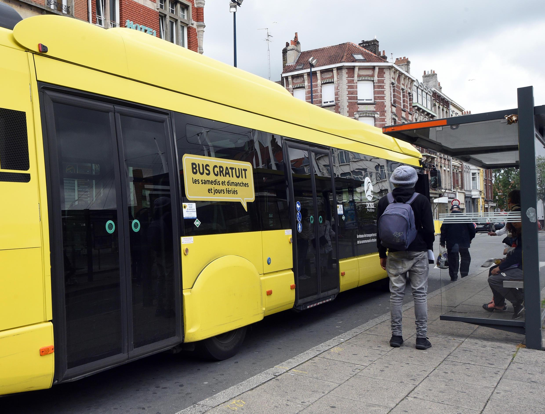 Autobus gratuito, en Dunkerque.