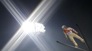 Coline Mattel s'est envolée dans le ciel du centre de saut à ski de Rosa Khutor pour obtenir la médaille de bronze, ce mardi 11 février 2014.