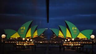 Ópera de Sydney ganha as cores do Brasil para celebrar a Olimpíada do Rio.