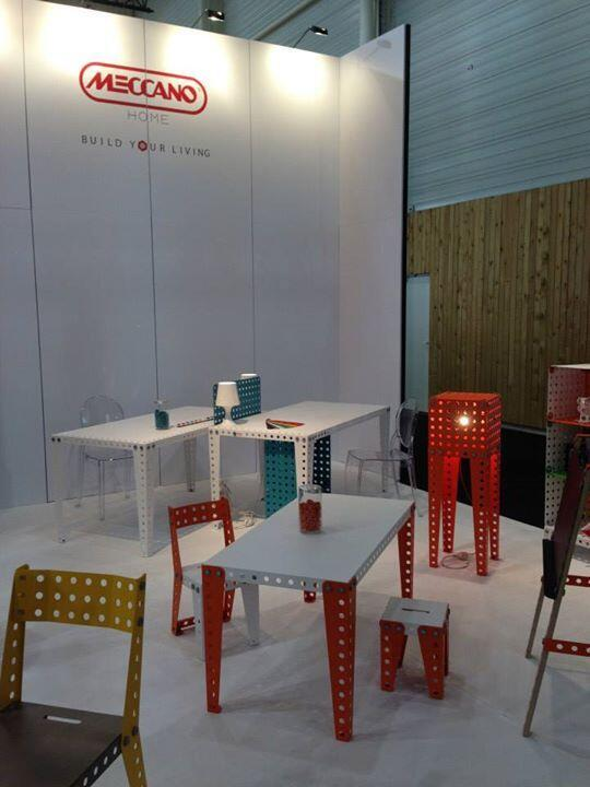 Muebles inspirados en los juguetes Meccano.