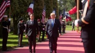 Emmanuel Macron et Donald Trump en Normandie, le 06/06/2019.