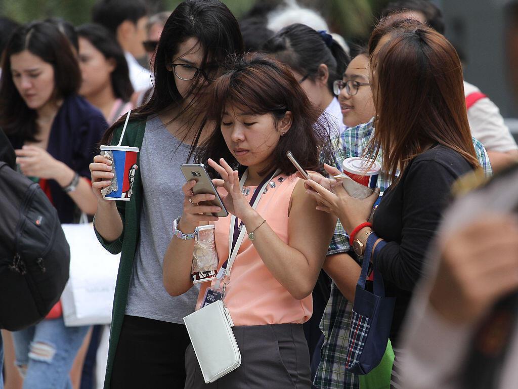 Des étudiantes thaïlandaises à Bangkok.