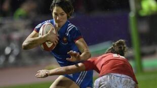 La Française Jessy Trémoulière, désignée meilleure joueuse de rugby à XV en 2018.