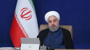 O Presidente do Irão Hassan Rouhani