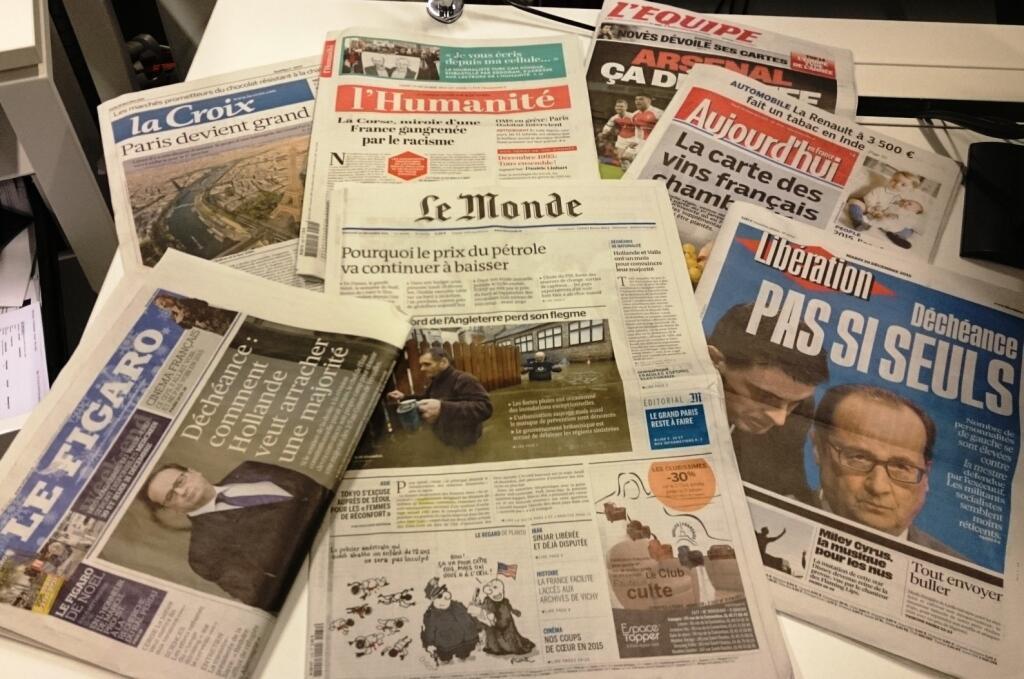Diários franceses 29/12/2015