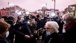 Tribunal d'Anvers / procès du diplomate iranien Assadollah Assai et ses trois complices. Durant le procès, la défense de ce dernier avait estimé que la justice anversoise n'était pas compétente pour juger le diplomate. 27 nov. 2020 - © AFP