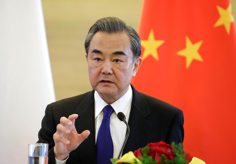 El ministro chino de Relaciones Exteriores, Wang Yi, en conferencia de prensa en Pekín. Este 14 de abril de 2017.