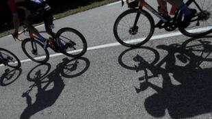 Photo prise sur le Tour de France, le 13 septembre 2020.