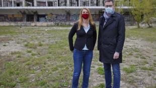 项目选址所在地区长巴兰伊与布达佩斯市长卡拉松尼资料图片