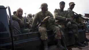 Des soldats de l'armée congolaise, le 4 août 2012.