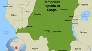 Ramani ya Jamhuri ya Kidemokrasia ya Kongo