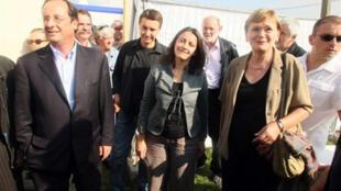 François Hollande, Olivier Besancenot, Cécile Duflot et Marie-George Buffet.