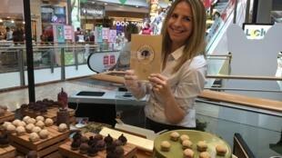 """A empresária paulista Meire Nussbacher abriu a """"Brigaderia"""", no Shopping Azrieli, em Tel Aviv."""