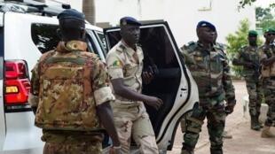 Ismael Wague, kakakin gwamnatin sojin Mali a babban sansanin sojin dake Kati, dake wajen birnin Bamako. 26/8/2020.