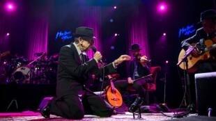 Leonard Cohen festival nhạc jazz Montreux. Ảnh tháng 7/2013.
