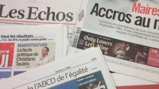 Primeiras páginas diários franceses 6/2/2014