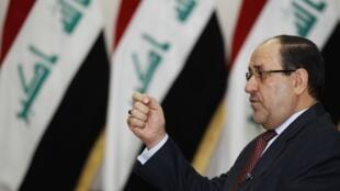 Le Premier ministre irakien Nuri al-Maliki lors d'une interview à Bagdad, le 12 janvier 2014.