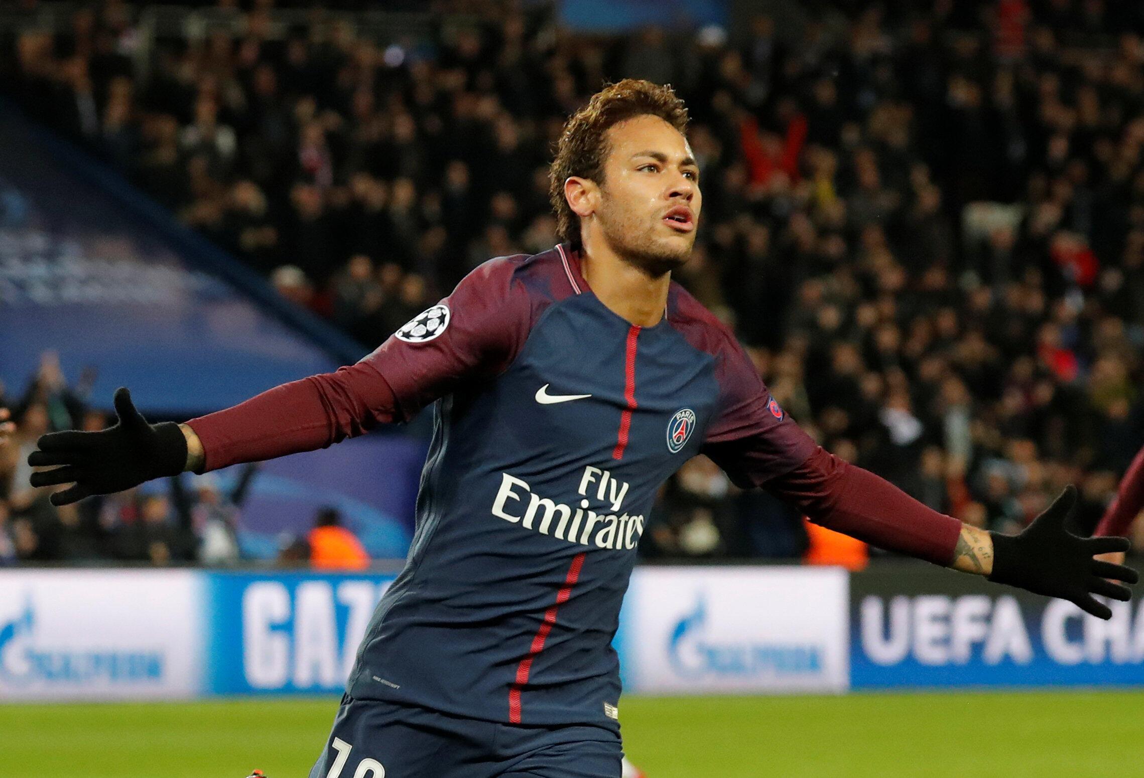 Neymar, aposta do PSG para a Liga dos Campeões.