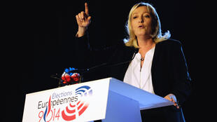 Front National president Marine Le Pen during a campaign meeting in Lens, northern France, on May 17, 2014