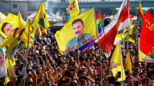 Plus de 30 000 Kurdes ont demandé la libération d'Abdullah Öcalan ce samedi à Cologne.