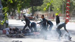 Apenas no dia 30 de abril, nove jornalistas morreram em um duplo atentado do grupo Estado Islâmico na capital do Afeganistão.