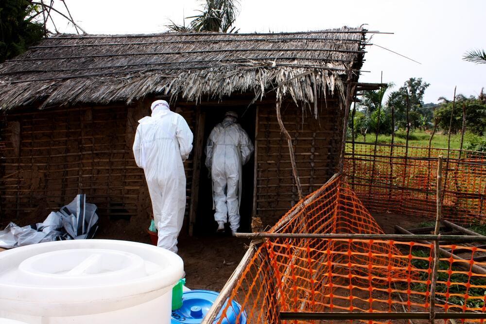Maafisa wa Afya wakiendelea na shughuli zao za kuzuia na kupambana dhidi ya ugonjwa hatari wa Ebola , mashariki mwa DRC.