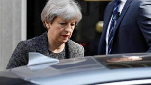 Theresa May, Primeira-ministra britânica. Londres. 15 de Junho 2017