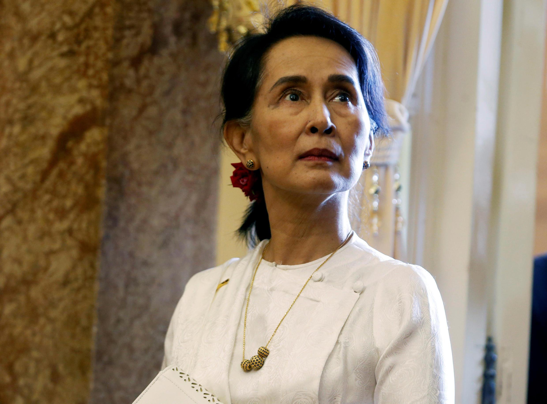 A líder birmanesa, Aung San Suu Kyi, em Hanói, a 13 de Setembro de 2018