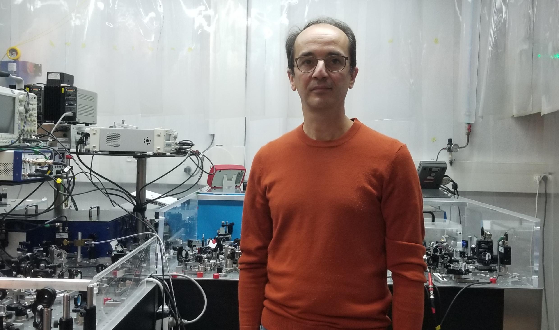Nicolas Treps at the Kastler Brossel Laboratory in Paris.