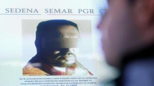 La photo de «Z43» projetée lors d'un point presse du commissaire à la sécurité nationale Renato Sales, à Mexico, le 9 février 2018.