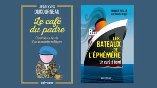 """""""Le Café du padre"""", de Jean-Yves Ducourneau et """"Les Bateaux de l'éphémère"""", de Thomas Ziegler, écrit avec Charles Wright."""