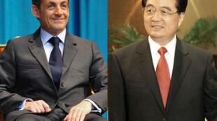A son arrivée en France le 2 novembre 2011, le président chinois Hu Jintao (d) a rencontré son homologue français, Nicolas Sarkozy lors d'un dîner.