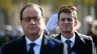 فرانسوا هولاند، رئیس جمهوری و مانوئل والس، نخست وزیر فرانسه