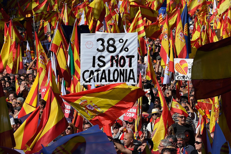 Magoya bayan 'yan aware a yankin Catalonia.