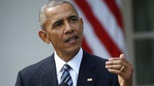 圖為美國總統奧巴馬