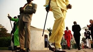 Foto del congolés B. Mouanda, tomada en Brazzaville.