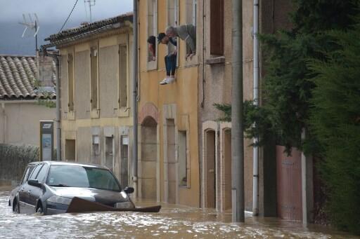 O rio Aude subiu quase 7 metros, saiu do leito, provocando uma das piores cheias em 127 anos.