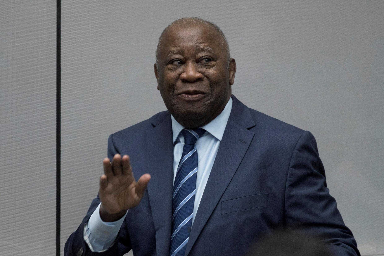 L'ancien président de Côte d'Ivoire, Laurent Gbagbo, le 15 janvier 2019 à La Haye, après son acquittement par la CPI.
