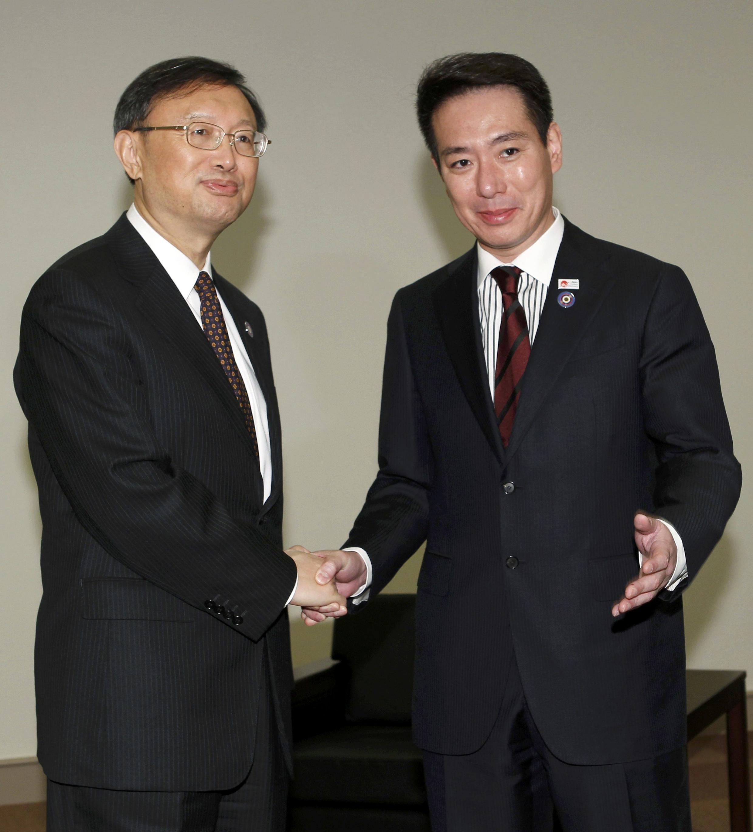 中國外長楊潔篪與日本外相前原誠司2010年11月14日在橫濱亞太經合會晤談